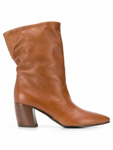 Prada pointed ankle boots - Brown