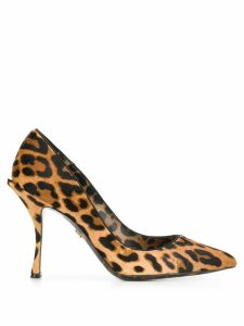 Dolce & Gabbana leopard-print pony hair pumps - Brown