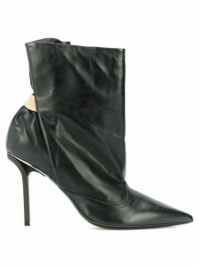Nº21 ruched ankle boots - Black