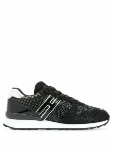 Hogan glitter panel sneakers - Black