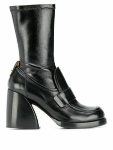 Chloé penny loafer boots - Black