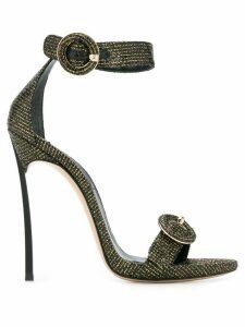 Casadei metallic stiletto sandals - GOLD