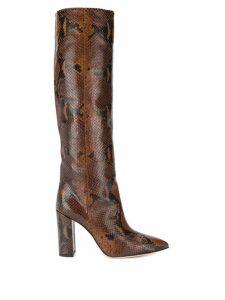 Paris Texas python skin effect boots - Brown