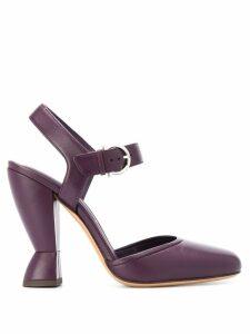 Salvatore Ferragamo sculptural heel Mary Jane sandals - Purple
