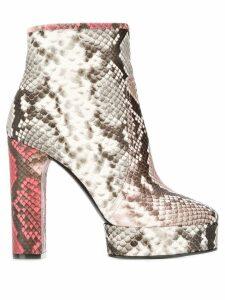 Casadei Zambe snakeskin heeled boots - Grey