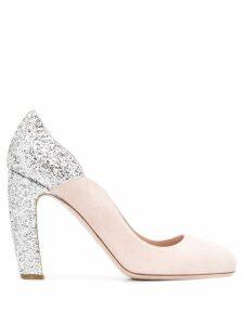 Miu Miu glitter embellished pumps - NEUTRALS