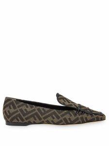 Fendi FFreedom square-toe loafers - Black