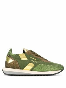 Ghoud glitter lace-up sneakers - Green