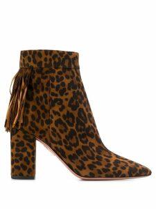 Aquazzura leopard ankle boots - Brown