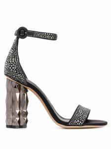 Salvatore Ferragamo Faceted Flower sandals - Black