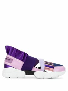 Emilio Pucci City Up Colourblock Ruffled Sneakers - Black