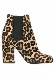 Laurence Dacade Mila leopard ankle boots - Brown