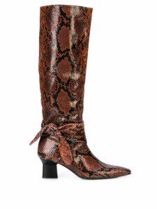 Rosetta Getty snakeskin effect boots - Brown