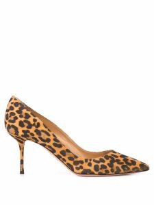 Aquazzura leopard print 75mm pumps - Brown