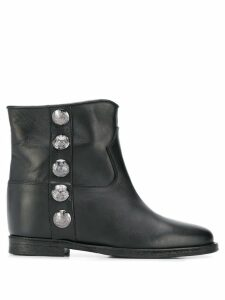 Via Roma 15 studded ankle boots - Black