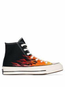 Converse Chuck 70 flame-print high-top sneakers - Black