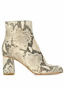 Red Valentino RED(V) snakeskin-effect boots - Neutrals