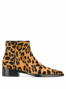 Dolce & Gabbana leopard print ankle boots - Brown