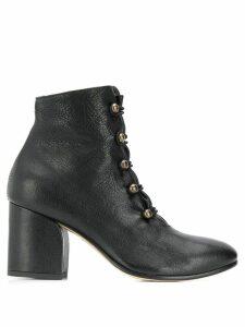 Officine Creative block heel boots - Black
