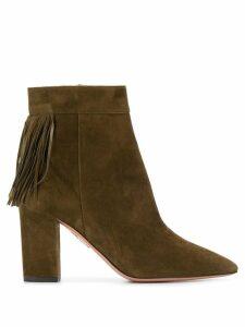 Aquazzura fringe heeled boots - Green