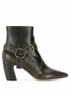 Miu Miu buckled ankle boots - Brown