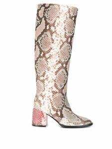 Casadei Python tubular boots - Brown