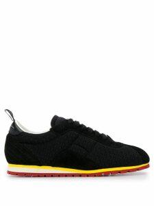 Mm6 Maison Margiela contrasting rubber sole sneakers - Black