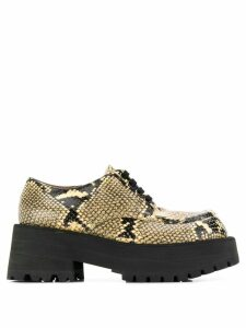 Marni snake-effect chunky shoes - Neutrals
