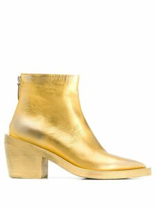 Marsèll metallic ankle boots - GOLD