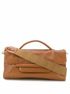 Zanellato wrapped handle tote bag - Brown