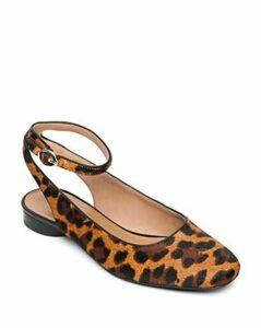 Bernardo Women's Ellie Leopard Print Calf Hair Flats