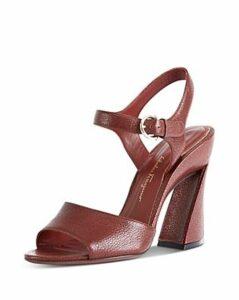 Salvatore Ferragamo Women's Curved Block Heel Sandals