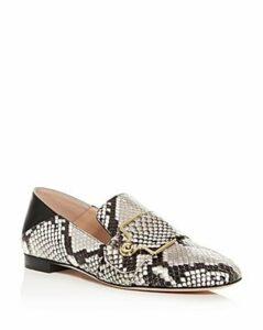 Bally Women's Maelle Snake-Embossed Square-Toe Loafers