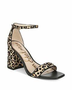 Sam Edelman Women's Daniella Leopard-Print High-Heel Sandals