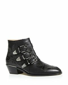 Chloe Women's Susanna Pointed-Toe Studded Booties