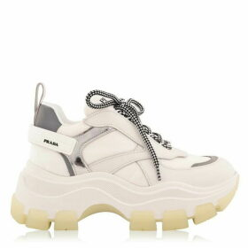 Prada Leather And Nylon Block Trainers