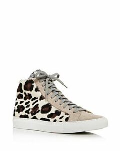 P448 Women's F9STAR 2.0 Mixed Media High-Top Sneakers
