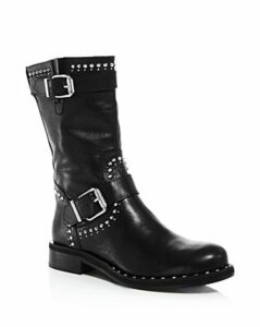 Charles David Women's Whistler Studded Leather Moto Boots