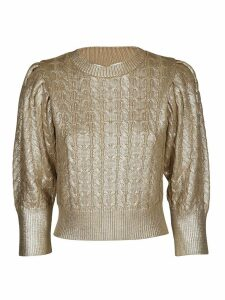 MSGM Metallic Cable Knitwear