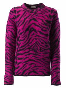 Saint Laurent Zebra Pattern Sweater