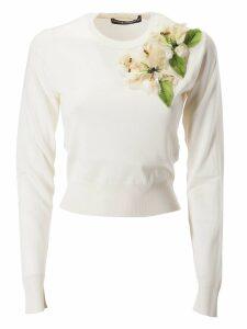 Dolce & Gabbana Flower Embellished Sweatshirt