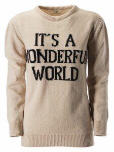Alberta Ferretti Its A Wonderful World Print Sweater