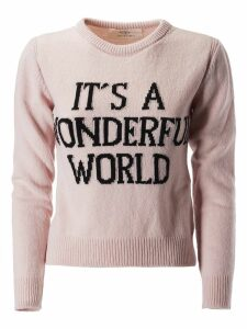Alberta Ferretti Its A Wonderful World Print Sweater