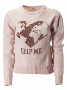Alberta Ferretti Heart Pattern Sweater