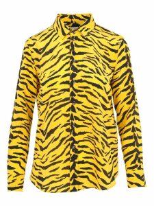 Saint Laurent Silk Zebra Stripes Shirt
