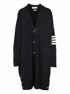 Thom Browne 4-bar Exaggerated V-neck Cardigan