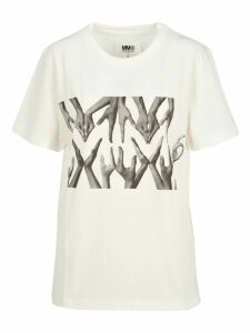 Mm6 Logo Hand Print T-shirt