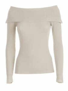 Parosh Sweater L/s Bare Shoulders Lurex