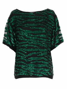 Parosh Sweater S/s V Neck W/paillettes