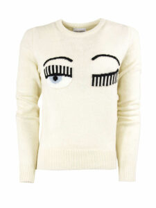 Chiara Ferragni Flirting Sweater In White